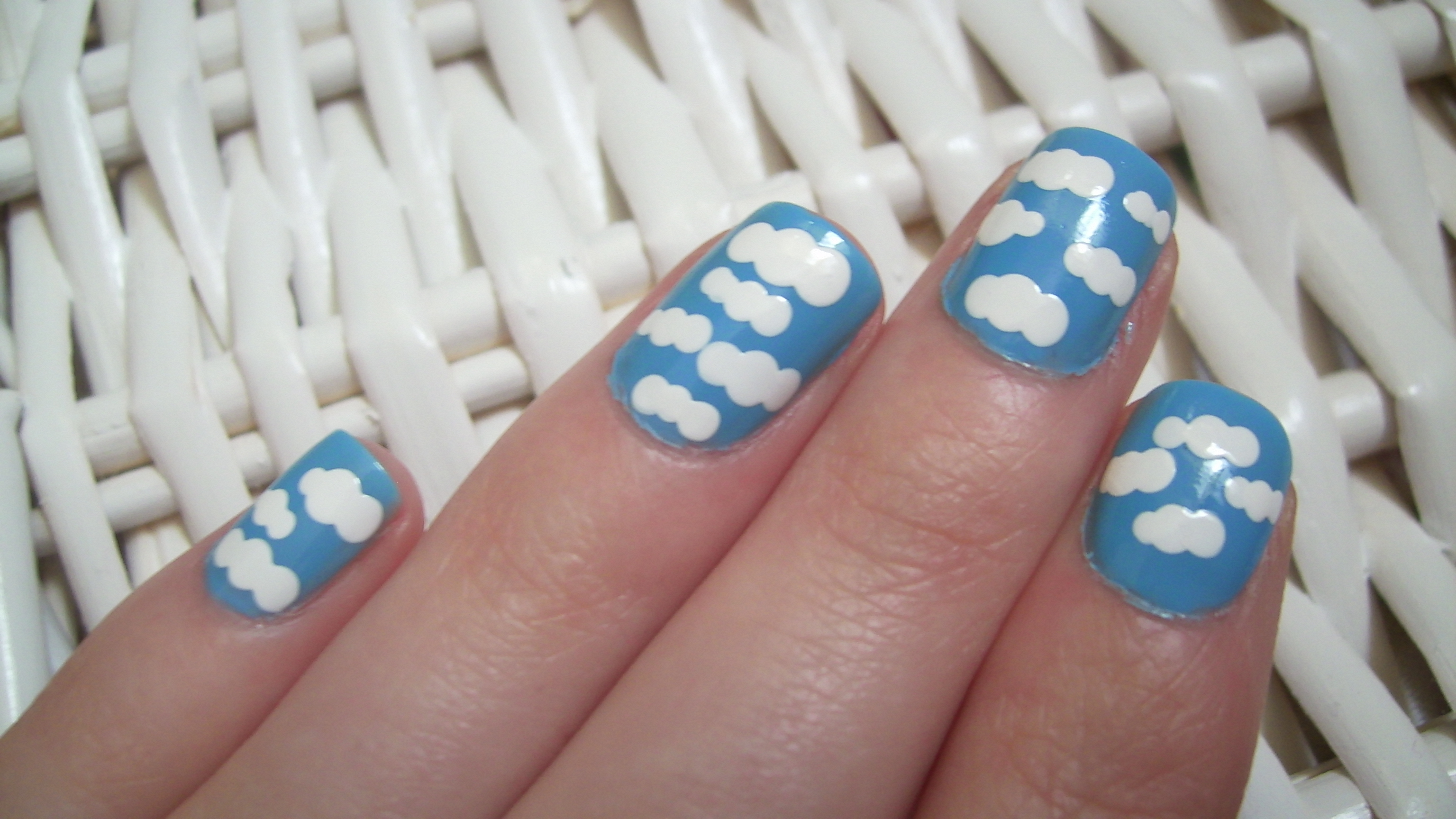 Clouds Nail Art My Beauty Notes