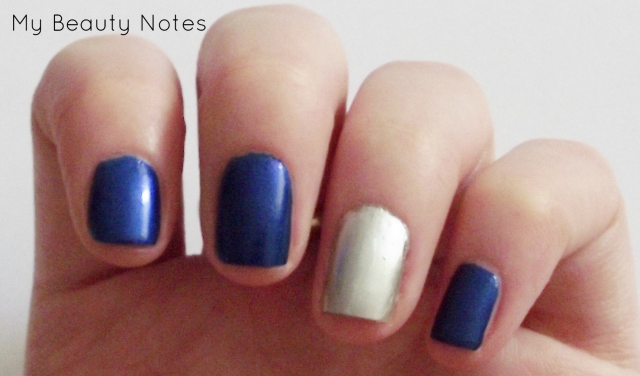 essie aruba blue and nails inc soho silver with title