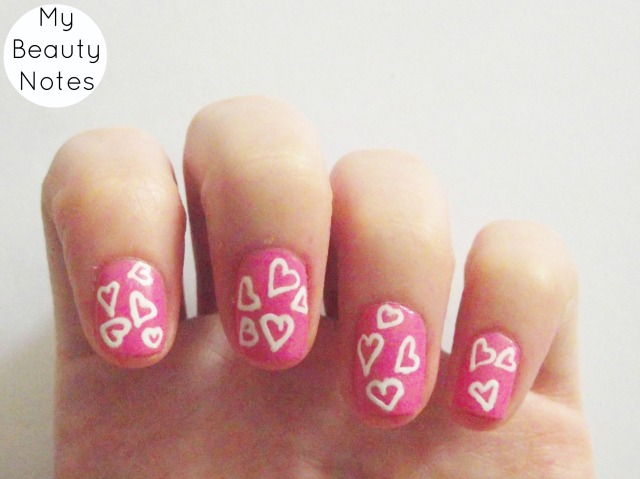 Valentine Nails with title