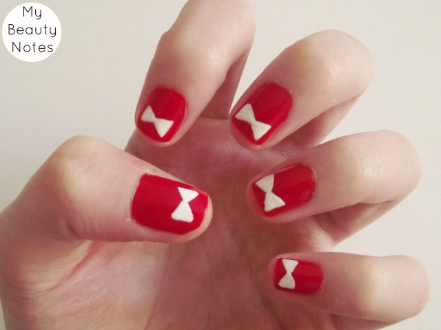Bow Nail Art  with title