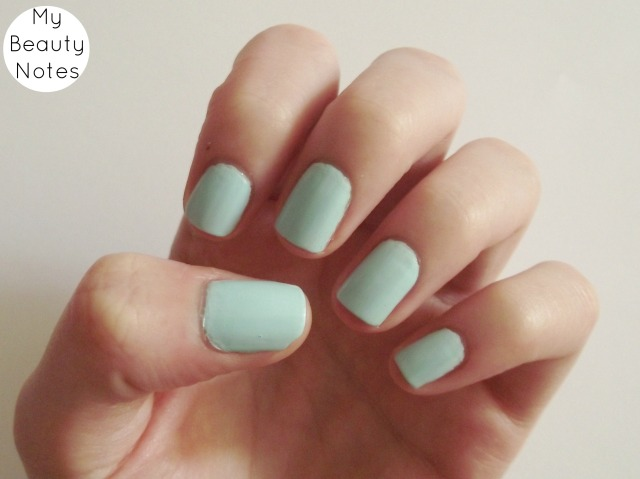 Rimmel Breakfast In Bed rita ora mint nail polish swatch