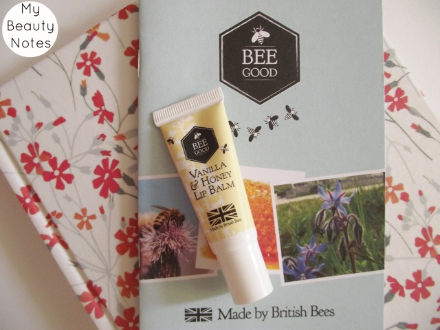 Bee Good Vanilla and Honey Lip Balm natural british blog review