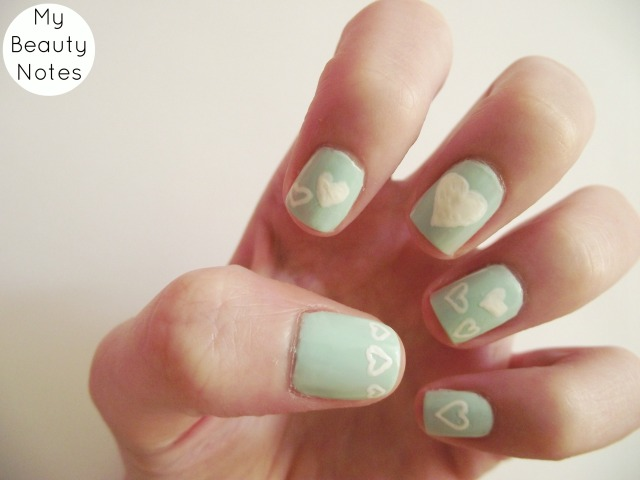 heart nail art models own scented apple pie nail polish mint snow white nail polish
