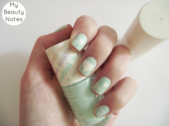 heart nail art models own scented apple pie nail polish mint snow white nail polish cute