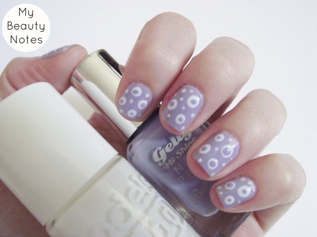 easy polka dot nail art barry m prickly pear lilac nail polish and models own snow white polish dotty