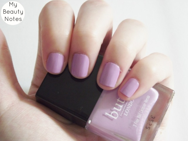 BUTTER LONDON MOLLY CODDLED LILAC NAIL POLISH SUMMER 2013 swatch