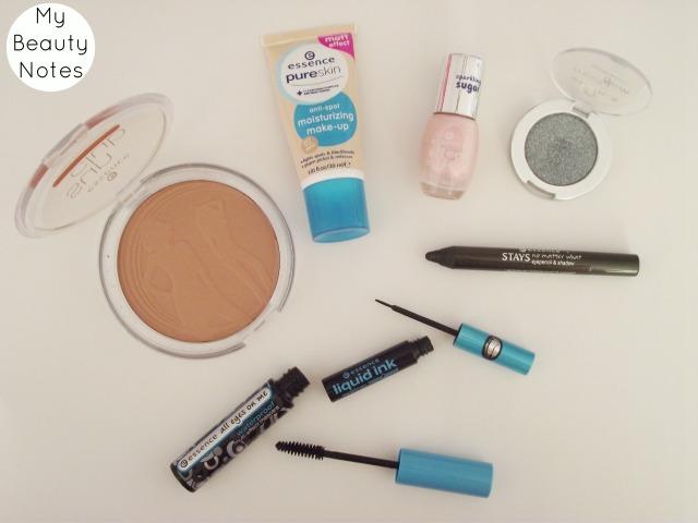 essence cosmetics my beauty notes mascara eyeliner nail polish bronzer pure skin foundation eyeshadow review
