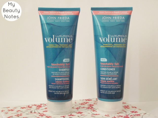 john frieda luxurious volume for colour treated hair shampoo and conditioner my beauty notes blog review duo