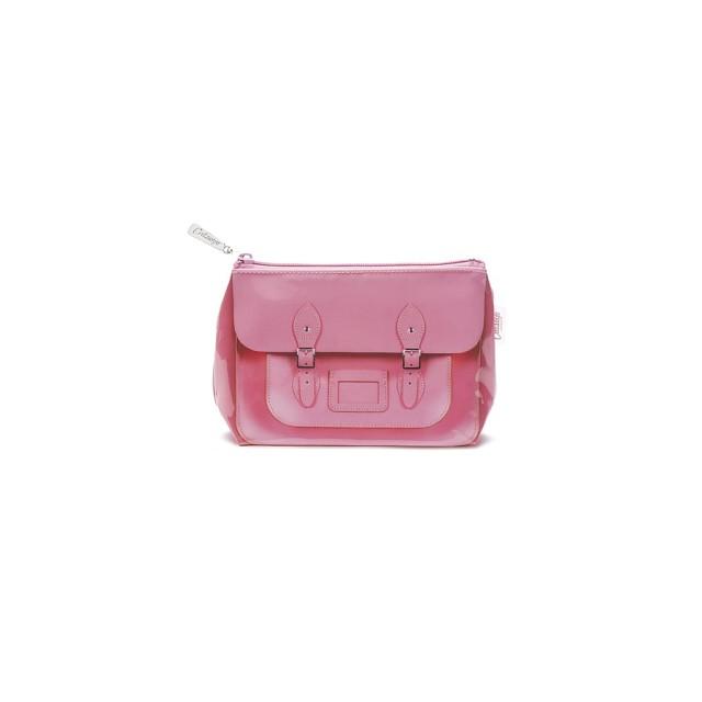 pink satchel makeup bag