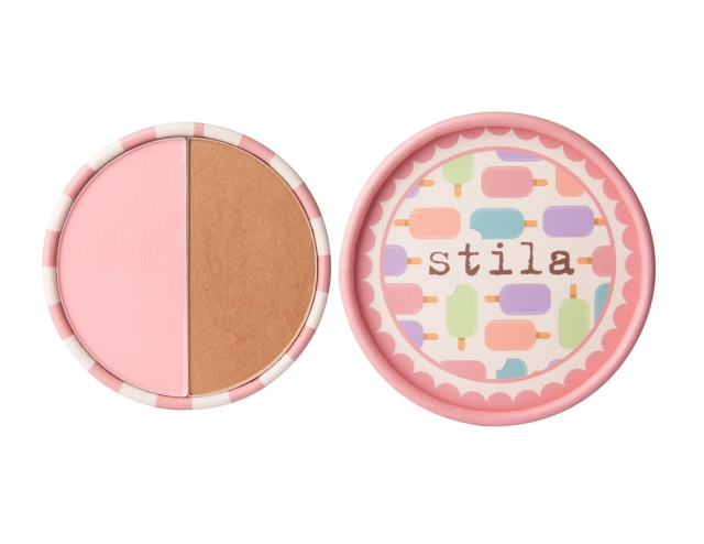 stila ice cream collection blusher and bronzer duo strawberry cream pop pink my beauty notes blog