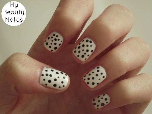 Polka Dots Nails models own snow white