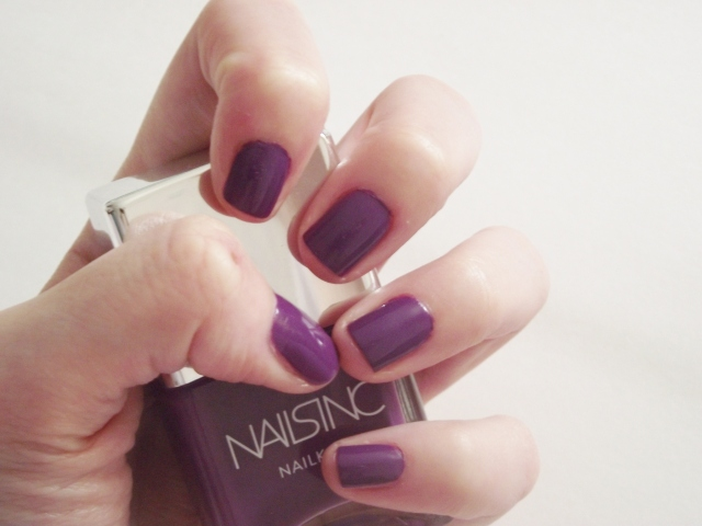 nails inc nailkale gloucester walk blog review purple nail polish autumn winter